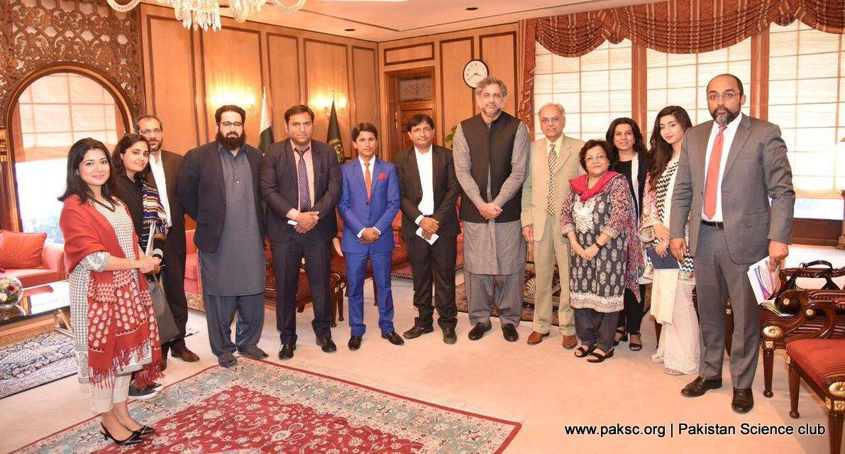 PSC Founder Abdul Rauf & PAMS partners meet with PM Shahid Khaqan Abbasi