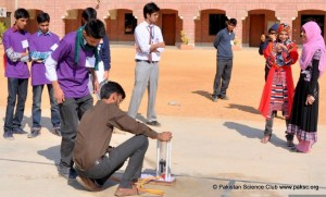 Water Rocket Launching at Science Olympiad