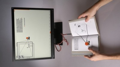 Electrolibrary: Paper book as interface