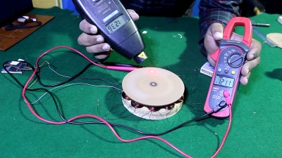 DIY ac generator from harddisk drive