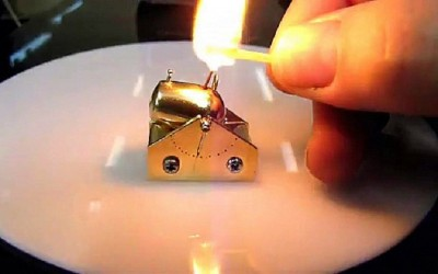 World's smallest cannon firing and destroying targets