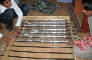 Solar Water Heater from Recycled Plastic Bottles