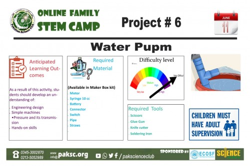 Project # 6 Water Pump