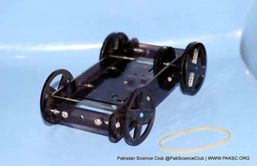 Rubber powered Car