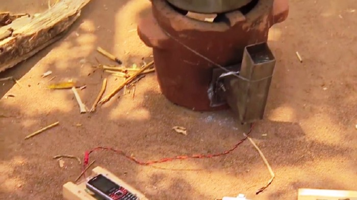 Mud Stove Phone Charger