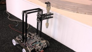 Small Robots Printing Large-scale Buildings