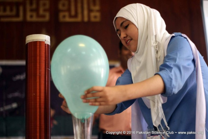 Fun science, Hand-on Science activities organized at Islamabad Model Girls College