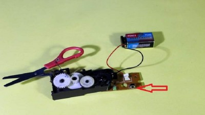 DIY Electric Scissor from CD-ROM