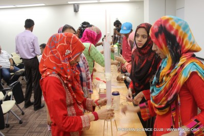 An evening of experiments, learning, and fun 'Hands-On Stem' photo gallery.