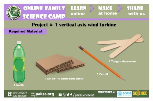 Project # 1 vertical axis wind turbine