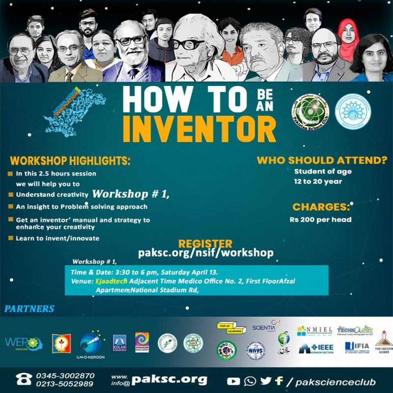HOW TO BE AN INVENTOR Workshop # 1,