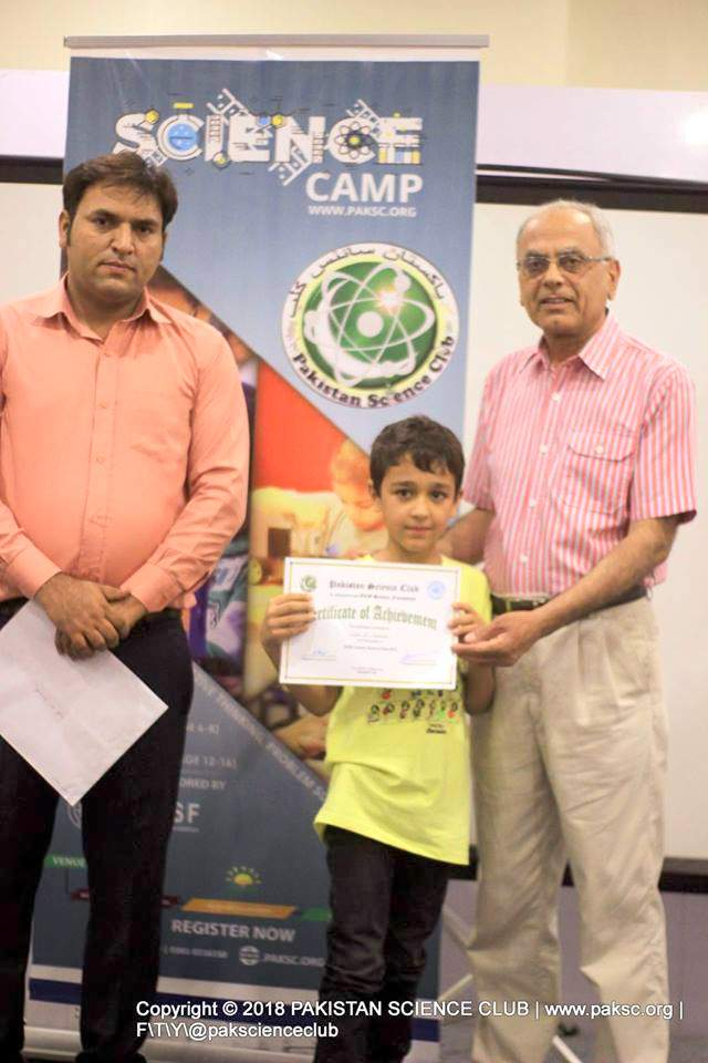 President Pakistan Science Club Abdul Rauf with ECO science foundation president Manzoor H Soomro