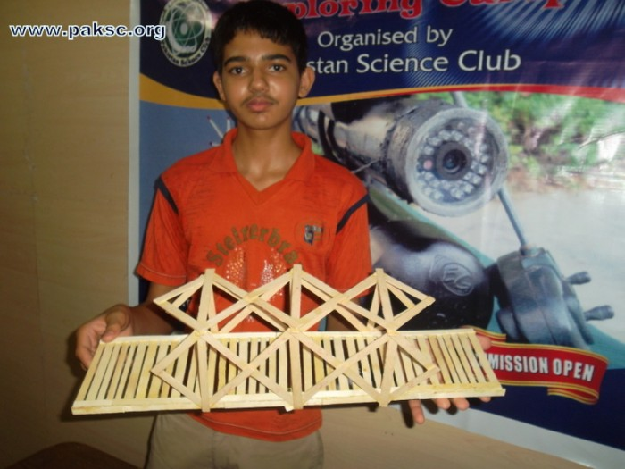 Building a Popsicle-Stick Bridge Photo Gallery