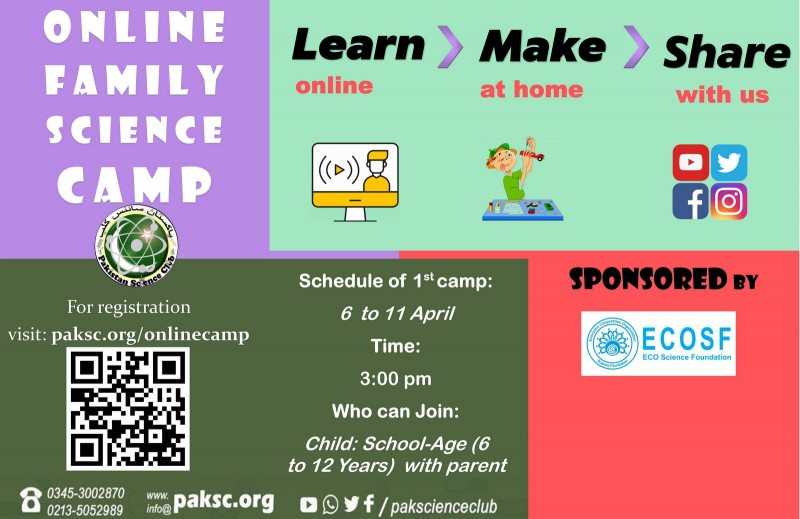 Online Family Science Summer  Camp 2020