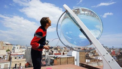 Spherical solar powered electric generator