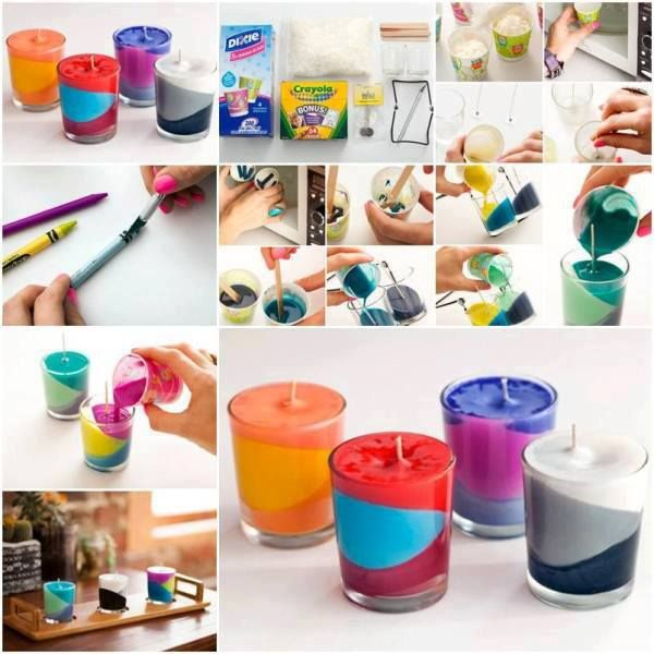 Multicolored Glass Candles