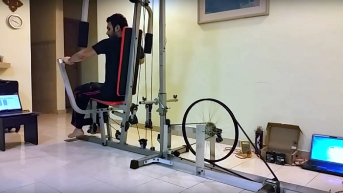 Green Weight-Lifting Machine by Syed Abdullah