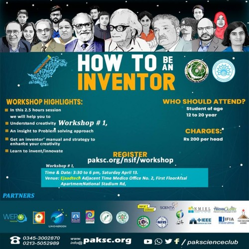 HOW TO BE AN INVENTOR Workshop # 1,  Saturday April 13