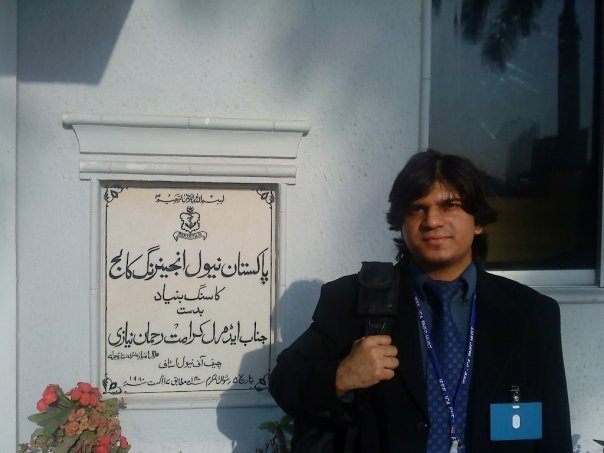 Standing in Pakistan Navy Engineering College (PNEC) Karachi