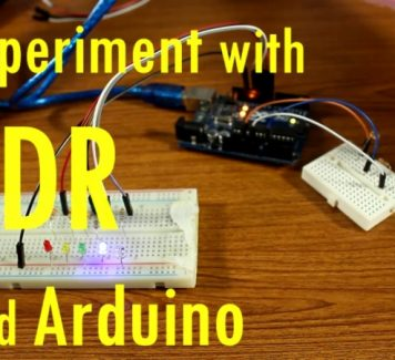 Experiment with LDR and Arduino