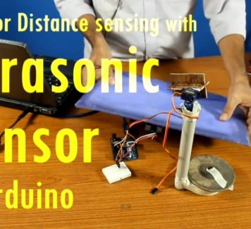Distance sensing with ultrasonic sensor via Arduino Urdu
