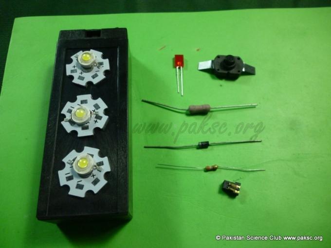Homemade emergency led light for Homemade electronic gadgets