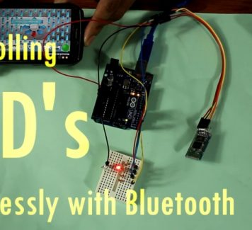 Controlling LED's Wirelessly Via Bluetooth
