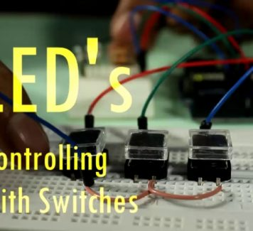 Arduino Lesson #4 LED's Controlling with Switches