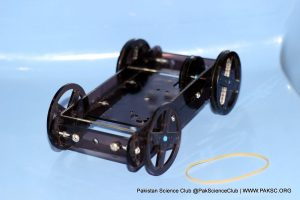 Make a Rubber Powered Car by STEM kit – Step by Step instructions